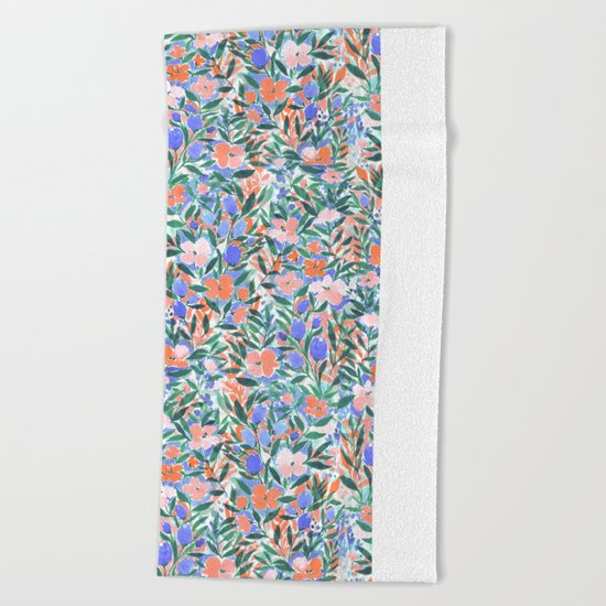Nonchalant Coral Beach Towel