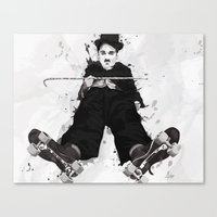 chaplin Canvas Prints featuring CHAPLIN by Analy Diego