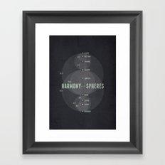 Harmony of the Spheres Framed Art Print