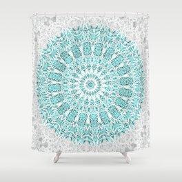 A Glittering Mandala Shower Curtain