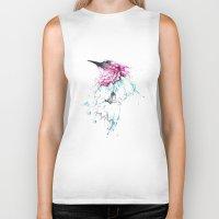 hummingbird Biker Tanks featuring Hummingbird by Alexis Marcou