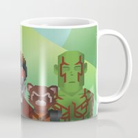 guardians of the galaxy Mugs featuring Guardians of the Galaxy by Casa del Kables