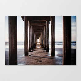 The lonely footstep Canvas Print