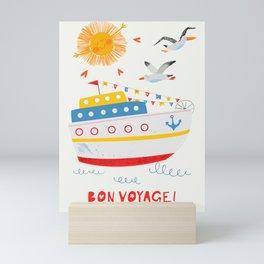 Sailors Sea ships and animals Mini Art Print