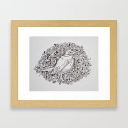 Rococo Nightingale Framed Art Print