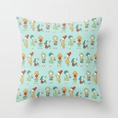 Candy girls Throw Pillow