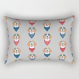 beagle bandana summer dog breed gifts pure breed pets Rectangular Pillow