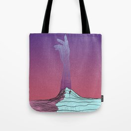 Mother Earth - Pink and Blue Tote Bag