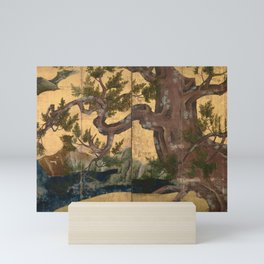 Kano Eitoku Cypress Trees Mini Art Print