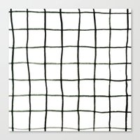 grid Canvas Prints featuring Grid by Tiffany Wong Art
