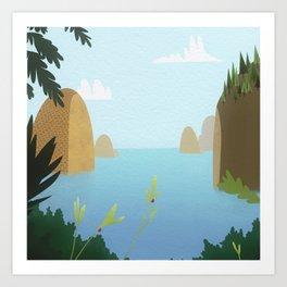 Pineapple Islands Art Print