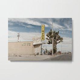 Liquor Store Yucca Valley Metal Print