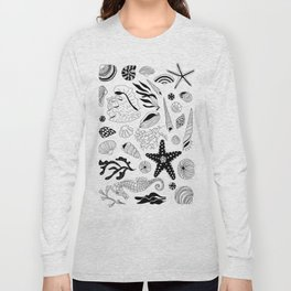 Tropical underwater creatures and seaweeds Long Sleeve T-shirt