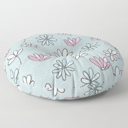 Cute Floral Ditsy Pattern Floor Pillow