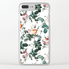Floral and Winged Darter Clear iPhone Case