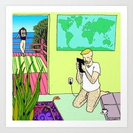 Travel Plans Art Print