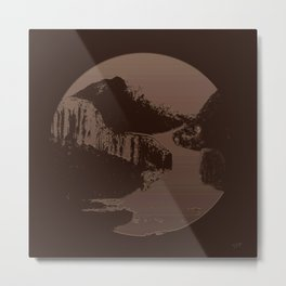 TinType Landscape Metal Print