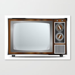 Old Television Set Canvas Print