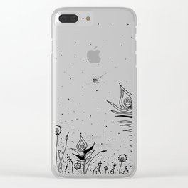 Tribal Flowers Art Illustration Clear iPhone Case