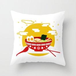 RAMEN Throw Pillow
