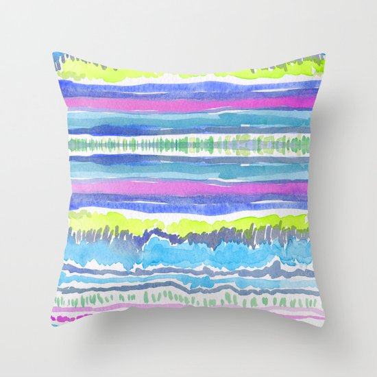 Lushly Streams Throw Pillow
