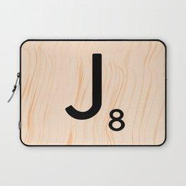Scrabble Letter J - Large Scrabble Tiles Laptop Sleeve