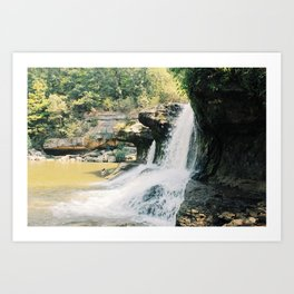 Cataract Falls Lovers Art Print