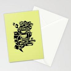 Happy Squiggles - 1-Bit Oddity - Black Version Stationery Cards