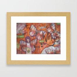 Creative Wings Framed Art Print