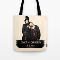 swan queen Tote Bags featuring Swan Queen Team by Geek World