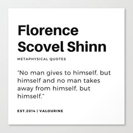 18    | Florence Scovel Shinn Quotes | 200126 Canvas Print