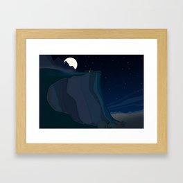 fairy landscape (at night) Framed Art Print