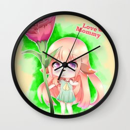Happy Mother's Day Furry Girl Wall Clock