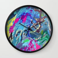 fairy Wall Clocks featuring Fairy by Lizzshop