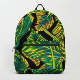 Banana Leaf Belize on Silk Backpack