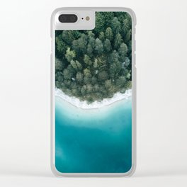 Green and Blue Symmetry - Landscape Photography Clear iPhone Case