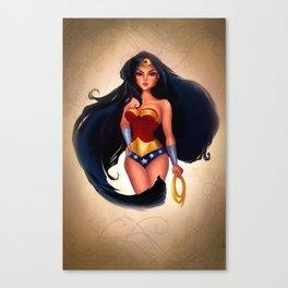 Wonder . Woman Canvas Print