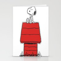 snoopy Stationery Cards featuring Snoopy by Simple Touch Apparel