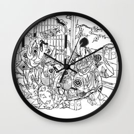 Samurais B Wall Clock