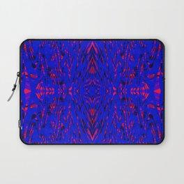 blue on red symmetry Laptop Sleeve