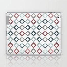 Modern Farmhouse Quilt Pattern Vintage Inspired NorthStar and Diamond Harlequin Print Laptop & iPad Skin