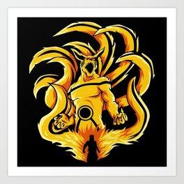 Kurama - Naruto Art Print
