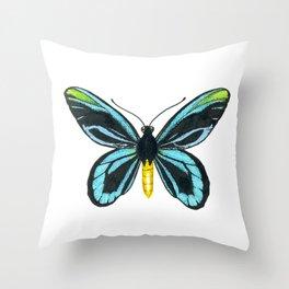 Queen Alexandra' s birdwing butterfly Throw Pillow