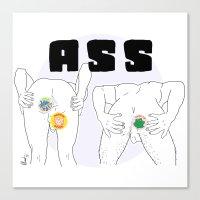 ass Canvas Prints featuring ASS by vllancourt