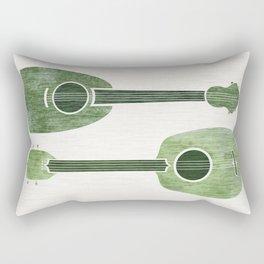 Hawaiian Ukuleles - Emerald Green Rectangular Pillow