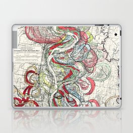 Beautiful Vintage Map of the Mississippi River Laptop & iPad Skin