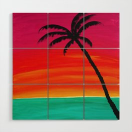Sunset Palm 2 Wood Wall Art