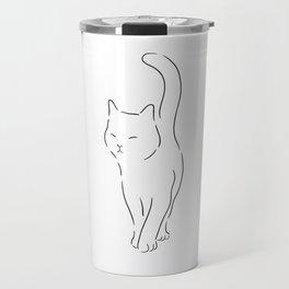 silhouette kitten shirt crazy catlady cat mom girl Travel Mug