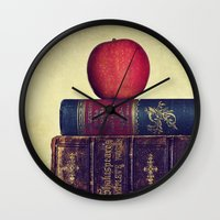books Wall Clocks featuring Books by Lawson Images