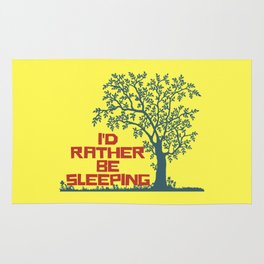 I'd rather be sleeping Rug